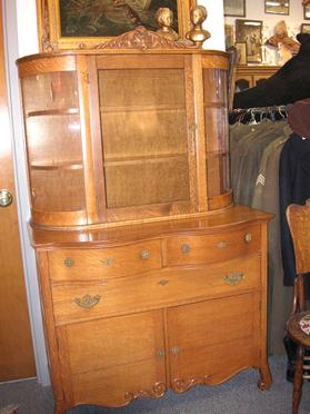 Oak China Hutch $650.00