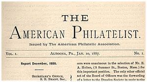 Image result for American Philatelist first issue
