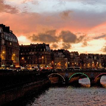 Notre Dame at Twilight, Paris