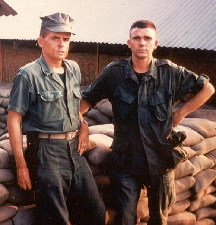 Ervin Lovell On Left KIA 5/14/67 Alpha Co.