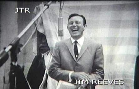 A  RARE GLIMPSE OF JIM REEVES IN THE RECORDING STUDIO...