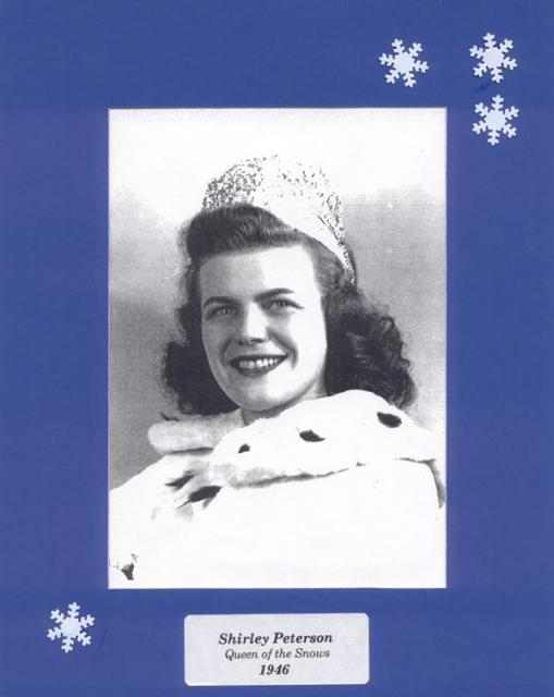 Click Here for Shirley (Peterson) Graiziger 1946 Winter Carnival Queen of the snows web page...