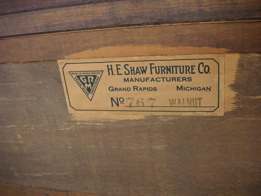 A Circa 1920u0027s Walnut Buffet From H.E. Shaw Furniture Co. Manufacturers  From Grand Rapids,