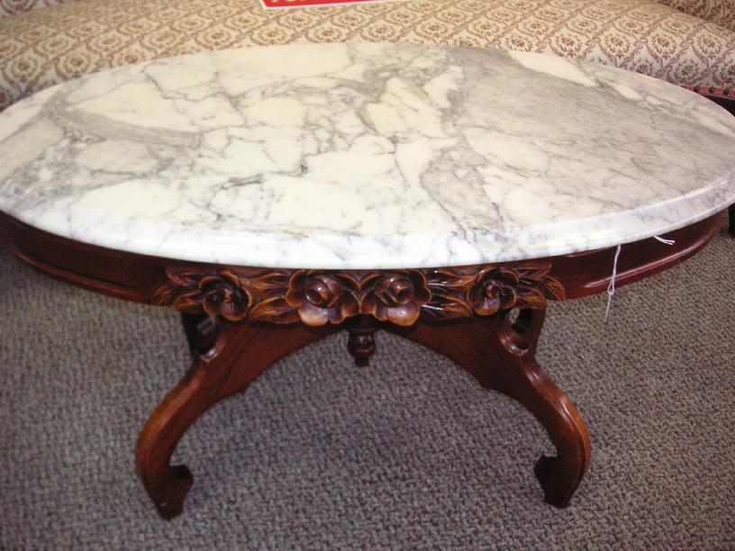 Victorian Marble Top Coffee Table Rascalartsnyc
