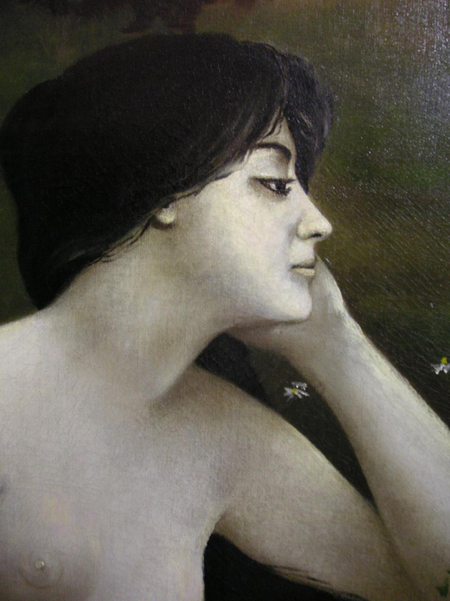 Portrait of a Nude Lady by Henry Carling