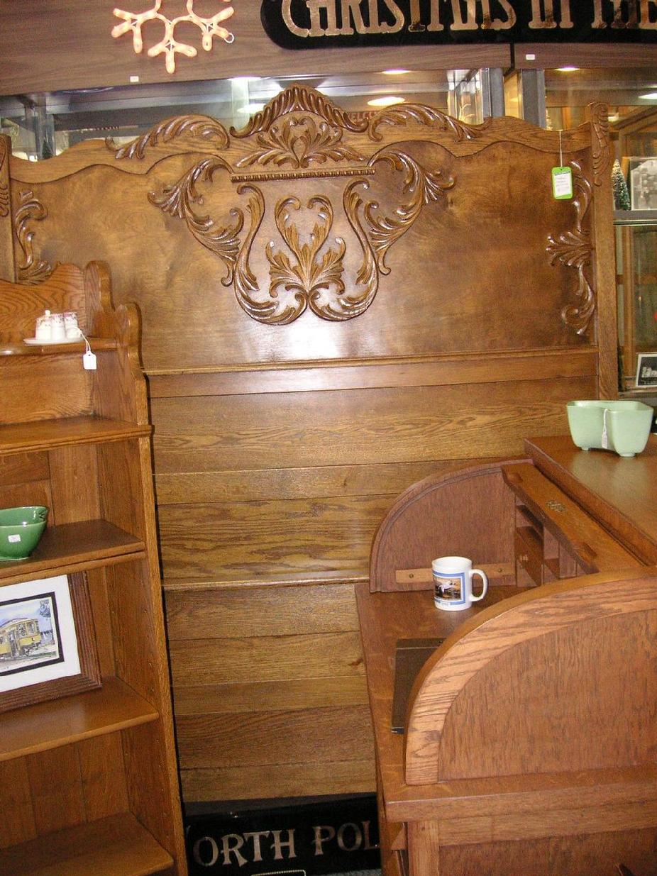 Antique Oak Bed Frame - $425.00