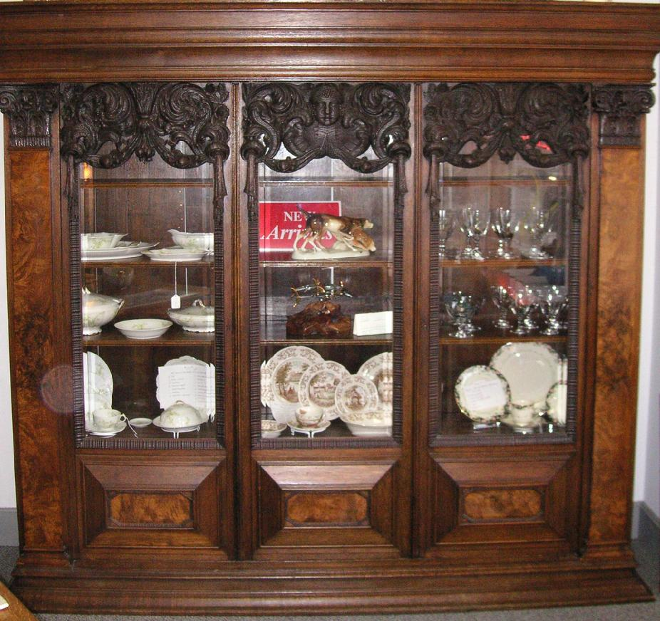 1800's German Bookcase - West Saint Paul Antiques